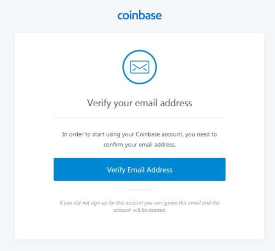 coinbase verifikace emailu