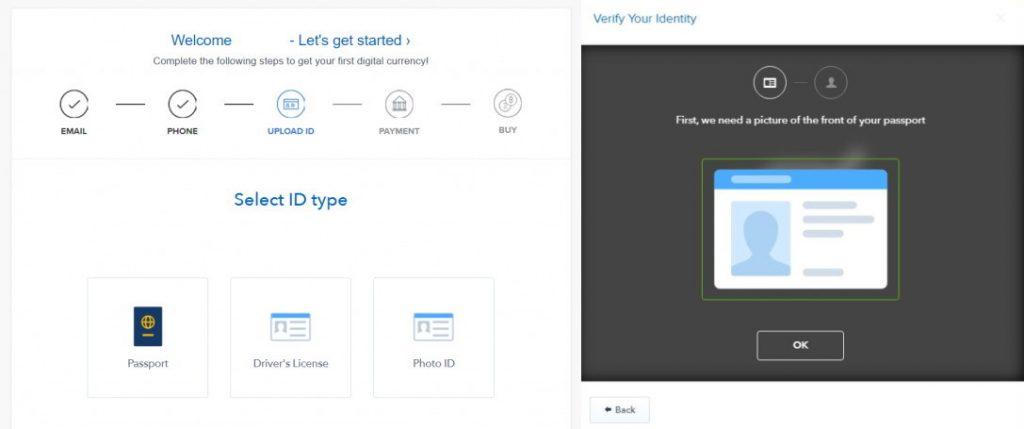 Coinbase ověření identity