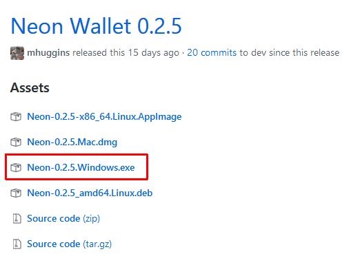 Neon wallet stažení peněženky
