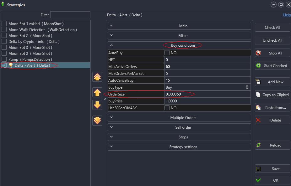 MoonBot uprava strategie